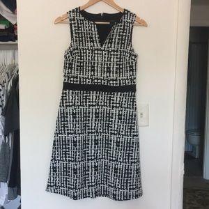 Ann Taylor Loft Black and white dress